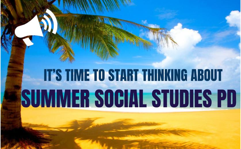 Time to think about summer PD – even in thewinter!