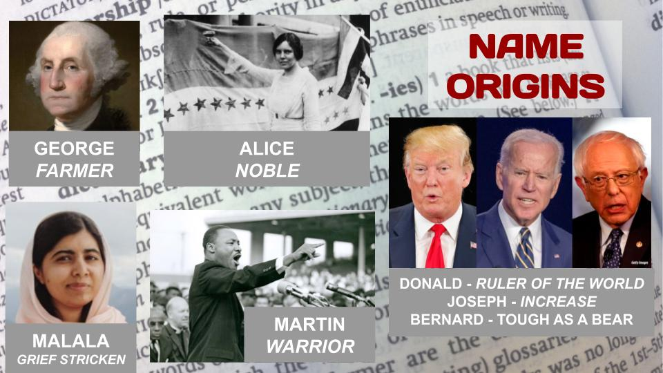 NAME ORIGINS